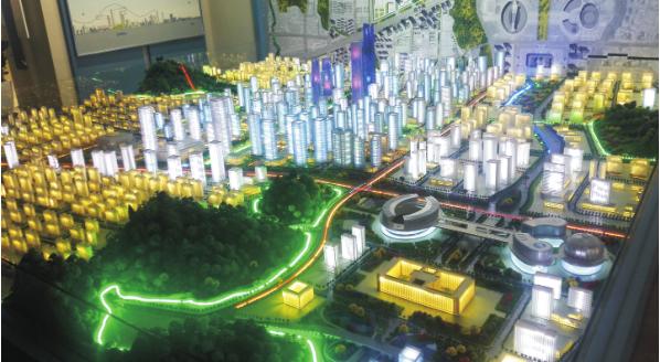 济南中央商务区规划高档模型制作