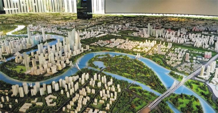 天津城市规划沙盘模型